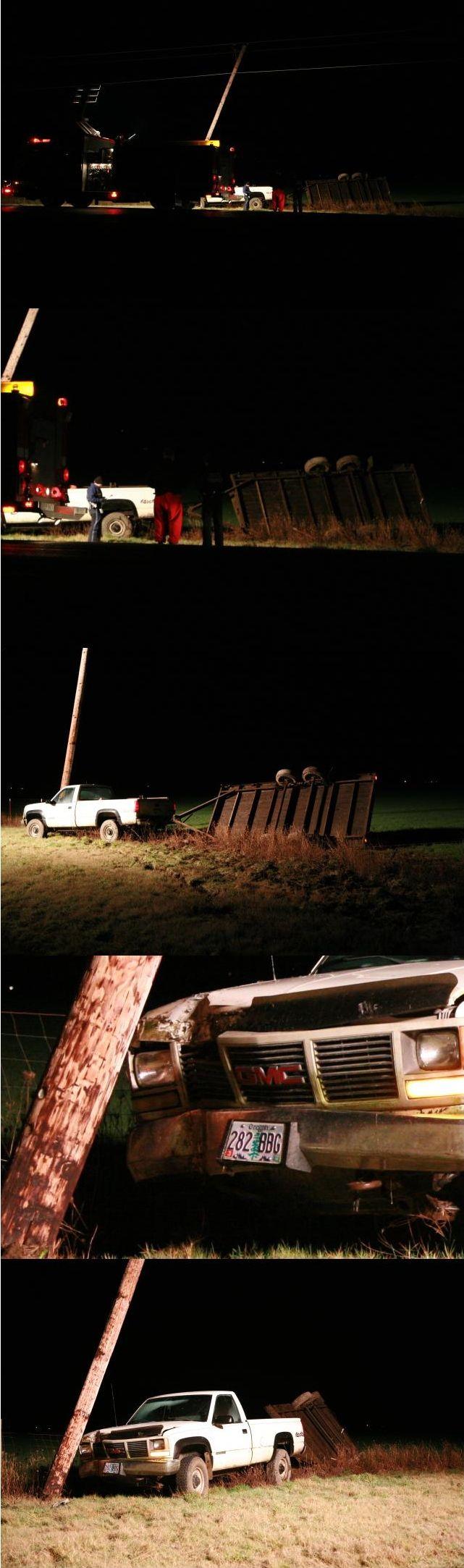 11 vehicles smashed on black ice on oregon highway 34 for Oregon department of motor vehicles salem or