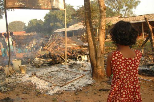 Child Watching butchered  in Sri Lanka