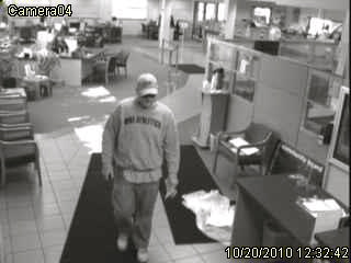 surveillance picture of MAPS Credit Union robber #1