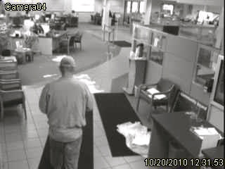 surveillance picture of MAPS Credit Union robber #3