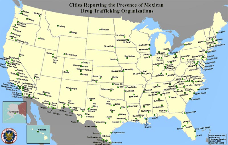 Major Cities In The USA EnchantedLearningcom Map United States