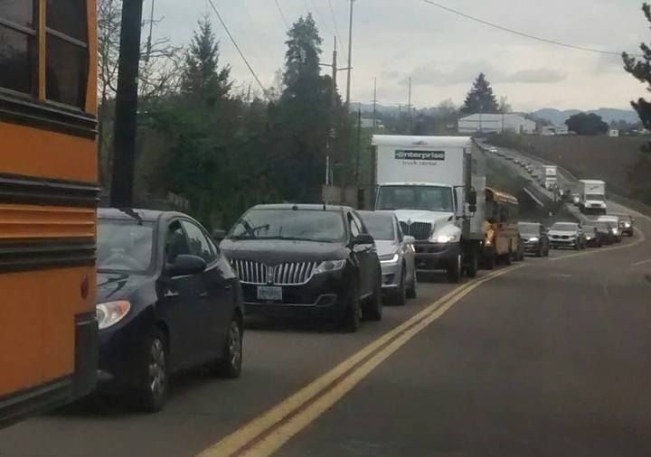 Hwy 18 at Dayton Closed for Hours Due to Crash into Bridge