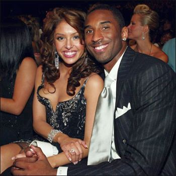 kobe bryant wife vanessa. Kobe Bryant, here with wife
