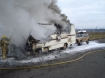 Motorhome fire in Oregon 1-10-09