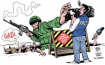 Israeli forces in Gaza and media