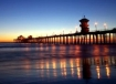The Huntington Beach Pier at sunset