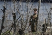 North Korean soldier guards forced labor camp