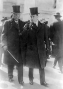 John D. Rockefeller and son in 1915
