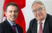 Tony Blair and Howard Buffett