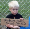 young protester
