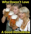 home brewed beer