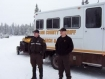 Linn deputies in the snow