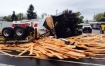 lumber truck crash