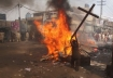 Muslims destroy a cross in Lahore, Pakistan