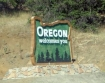 Oregon welcome sign