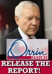 Caught you US Senator Orrin Hatch!  Now Release the Opioid Report!