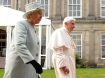 Queen Elizabeth II and Pope Benedict XVI.