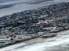 Overhead view of the NJ shore after Sandy passed