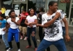 Youth danced outside the Rosewood Cafe in East Portland in 2012