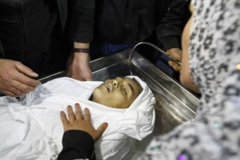12-year-old Ayoub Asalya was killed by an Israeli missile while he was going to school