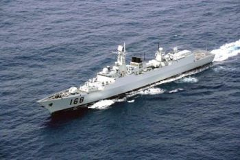 Chinese Navy's guided missile destroyer Guangzhou