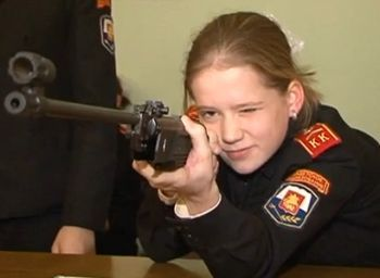 Female Russian child soldiers