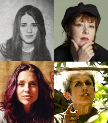 Clockwise from top left: Carly Bryant, Suzanne Vega, Ani Difranco and Joan Baez