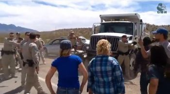 Scene at the Bundy Ranch in Nevada