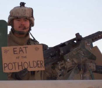 Marine Corps Sgt. Phil Northcutt in Iraq