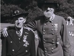 Two Veterans of the Battle of Gettysburg at the 50-year anniversary of the costly event.