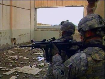 Oregon soldiers on an infantry patrol in Afghanistan
