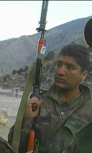 Afghan soldier with AK-47