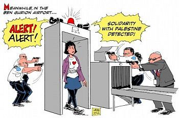 Latuff cartoon on 'Welsome to Palestine'