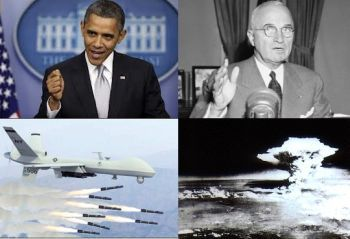 Obama, Truman, drone and the a-bomb
