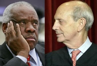 Supreme Court Justices Clarence Thomas and Stephen Breyer