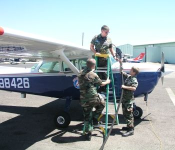 Local Salem squadron cadets refueling
