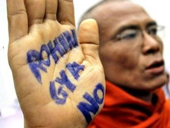 Burmese monks are seen fueling hatred against Rohingya Muslims, blocking international aid to the persecuted community