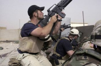 The private military company formerly known as Blackwater has agreed to pay a $7.5 million fine to settle charges related to arms smuggling, among other crimes, the Justice Department said Tuesday.