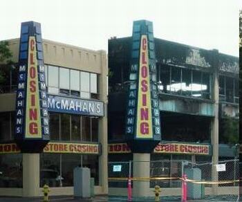 Salem furniture store before and after fire