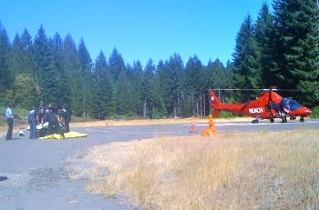 Rescue at Detroit Lake, Oregon 15 August 2010