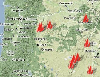 Oregon Department of Forestry Daily Fire Update for Friday August