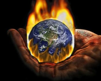 Global warming in a hand