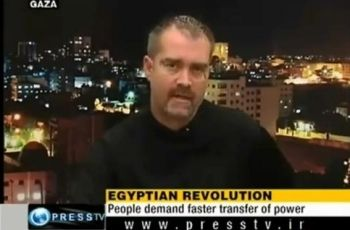Ken O'Keefe during an appearance on Press TV