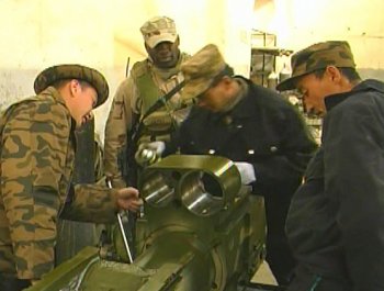 photo: The Mongolian Army worked alongside Afghani's, Americans and other coalition forces in the effort