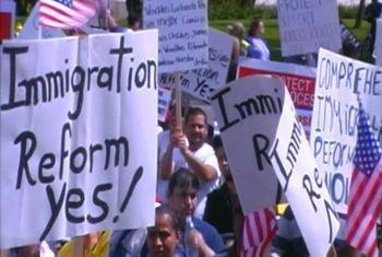 immigration rally in Salem, Oregon