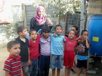 Rana Alshami and Gaza kids