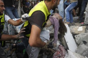 Little girl killed by Israeli soldiers in Gaza.