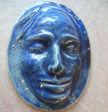 Vintage BLUE MAN Cobalt Art Pottery