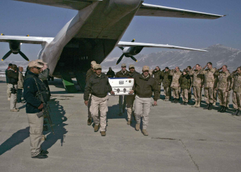 repatriation ceremony in Afghanistan