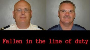 Capt. Tom Tennant and Chief Scott Russel